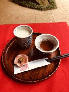 甘酒茶屋の甘酒