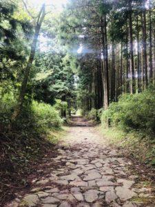 箱根三島側の旧東海道石畳